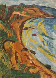 Ernst Ludwig Kirchner, Bucht an der Fehmarnküste (Bay on the coast of Fehmarn) | Flickr - Photo Sharing!