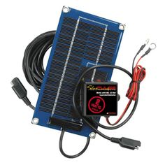 Use heat energy from the sun to charge batteries with this Solarpulse Mntnr. This two watt charger comes with its own solar panel and is perfect for keeping car or motorcycle batteries charged on cold winter days. Solar Panel System, Solar Energy System, Solar Power, Solar Panels For Home, Best Solar Panels, 12 Volt Led, Solar Battery Charger, Motorcycle Battery, Solar Projects