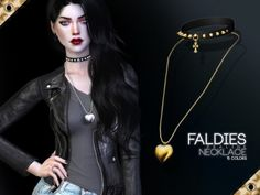 The Sims Resource - Faldies Necklace by Praline Sims for The Sims 4