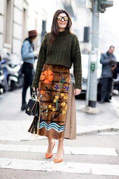 street style fashion week 2017 milan giovanna battaglia engelbert fendi