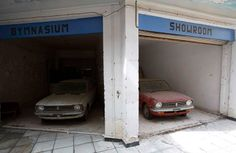 Abandoned cars. UN buffer zone, Cyprus.