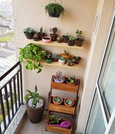 50 Most Inspiring Small Balcony Decoration Ideas To Look Modern Small Balcony Design, Small Balcony Garden, Small Balcony Decor, Balcony Plants, House Plants Decor, Plant Decor, Indoor Garden, Indoor Plants, Home And Garden
