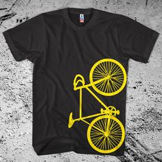 New Fixie Bike Black T-Shirt Fixed Gear Bicycle shirt. pick your size. $13.00, via Etsy.    so cute!