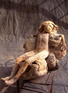Artodyssey: Fanny Ferré Paris Atelier, Frozen In Time, Ferrat, Greek Art, Ceramic Artists, Wood Carving, Terracotta, Sculpture Art, Sculpting