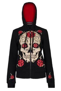 Jawbreaker Day of the Dead Sugar Skull hoodie