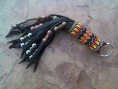 Native American Beaded Keychain  Richard by AmandasBeadingHeart
