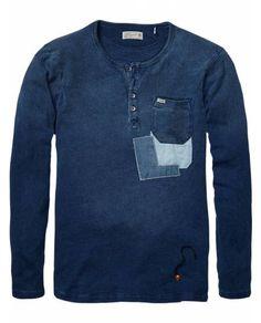 Indigo Granddad > Mens Clothing > T-shirts at Scotch & Soda - Official Scotch & Soda Online Fashion & Apparel Shops