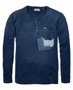 Indigo Granddad > Mens Clothing > T-shirts at Scotch & Soda - Official…