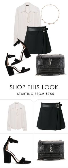 """""""Untitled #160"""" by nuage-orage on Polyvore featuring Plein Sud, Alexander McQueen, Gianvito Rossi, Yves Saint Laurent and Lee Angel Jewelry"""