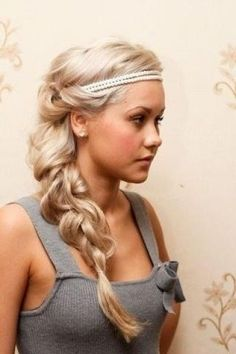 Long Blonde Braid for Prom and Homecoming Hairstyles