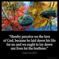 I John 3:16 KJV