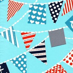 Ahoy Matey By Michael Miller Mutiny On The Bunting Blue