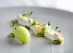 Pannacotta - Apple, Lime, Avocado, Coriander The Greenhouse Restaurant London