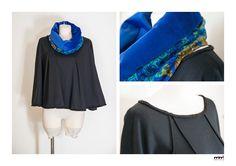 Cape with detachable neck Mimì Factory handmade design.