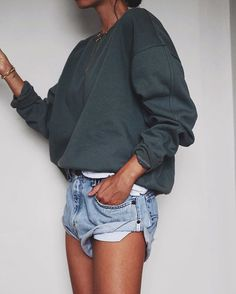 Greens and blues  // H&M #sweatshirt, @oneteaspoon_ #vintage bandits