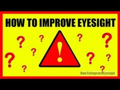 For everyone who would love to improve his sight, check this out!