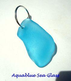 Drilled  Sea Glass RARE TURQUOISE  Pendant by aquablueseaglass, $16.00