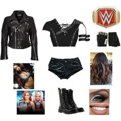 Wrestling Outfits, Wrestling Clothes, Wwe Outfits, Dress Ideas, Outfit Ideas, Gothic Outfits, Wwe Divas, Inspired Outfits, Character Ideas