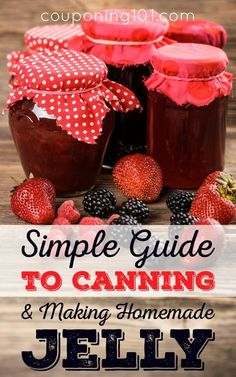 Simple Guide to Canning and Making Homemade Jelly -- Learn how to successfully and safely make your own canned goods to share with family and friends. would prevent the dirt and stuff on the lids. Canning Tips, Home Canning, Canning Recipes, Jelly Recipes, Jam Recipes, Cooker Recipes, How To Make Jelly, Making Jelly, Jam Making