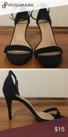 Strappy heels Navy heels that have never been worn New Look Shoes Sandals
