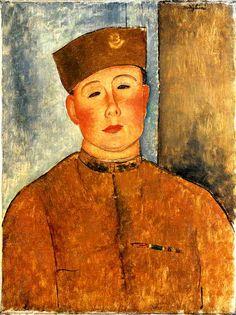 The Zouave 1918 | Amedeo Modigliani | Oil Painting #modglianipaintings