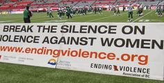 BC Lions Step Up On Violence Against Women