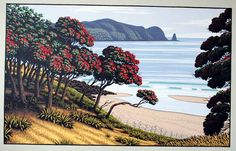 Te Pahi - Northland by Tony Ogle for Sale - New Zealand Art Prints New Zealand Landscape, Bay Of Islands, New Zealand Art, Nz Art, Kiwiana, Beach Art, Landscape Paintings, Landscapes, Art For Sale