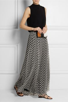 Mason by Michelle Mason|Printed silk-chiffon maxi skirt|NET-A-PORTER.COM