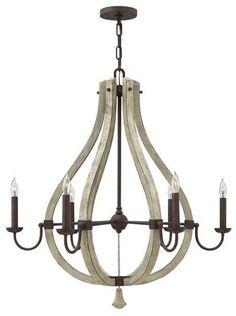 Distressed white wood chandelier lighting pinterest style middlefield 6 light chandelier aloadofball Images