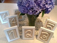Table number markers for nautical theme wedding simple and easy to make diy