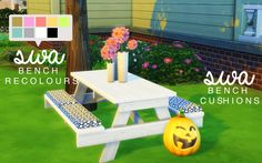 SWA OUTDOOR PICNIC TABLE & CUSHION SET HEY GUYS! I have wanted to create some cc for weeks now and i've been incredibly busy! BUT i managed to whip this up for you guys a few days ago! feel free to...
