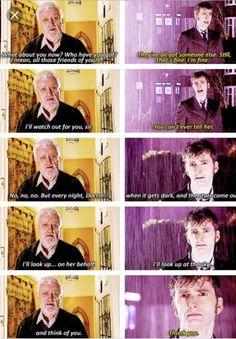 * doctor who David Tennant Tenth Doctor wilfred mott bernard cribbins journey's end dwedit rtdedit tenedit Doctor Who Funny, Doctor Who 10, Doctor Who Quotes, 10th Doctor, Wilfred Mott, Serie Doctor, Doctor Who Companions, Journey's End, Don't Blink