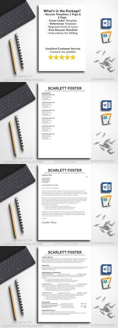 Resume Template 3 Page CV Template Pinterest Cv template and