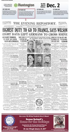 World War I took a heavy toll on Stark County, as reported in The Repository on December 2, 1918.