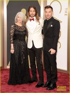 jared leto brings mom constance brother shannon to oscars 2014 03
