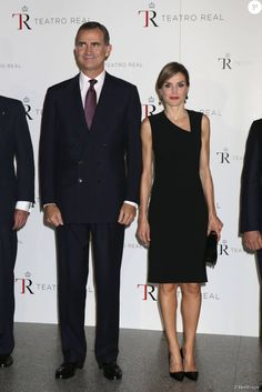 King Felipe and Queen Letizia attended the opening of the Royal Theater's new season on September 22, 2015 in Madrid, Spain.