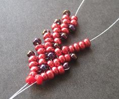 How to Bead a Candy Corn Brace