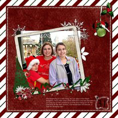 magic kingdom christmas scrapbooking layouts | visit facebook com