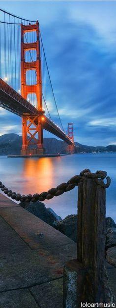 San Fancisco Architecture : Golden gate Bridge : Dusk at Fort Point, San Francisco by KP Tripathi (kps-photo. Baie De San Francisco, San Francisco California, San Francisco City, California Usa, Puente Golden Gate, Places To Travel, Places To Visit, Travel Things, Nova Orleans