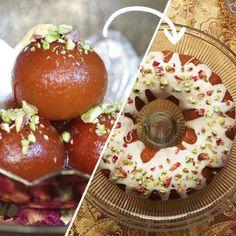 Gulab Jamun Cake As Made By Hetal Vasavada Recipe by Tasty Indian Desserts, Indian Sweets, Indian Food Recipes, Indian Cake, Cardamom Cake, Savoury Cake, Clean Eating Snacks, Eating Healthy, Caramel Apples