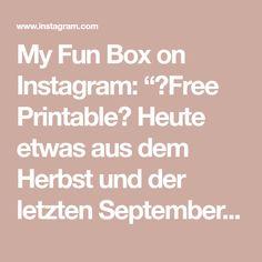 """My Fun Box on Instagram: """"🖨Free Printable🖨 Heute etwas aus dem Herbst und der letzten Septemberbox🍂 eine tolle Übung zur Schulung der Feinmotorik und…"""""""