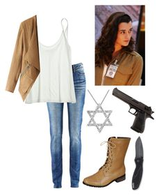 """""""Ziva David (NCIS)"""" by fangirl-fever ❤ liked on Polyvore"""