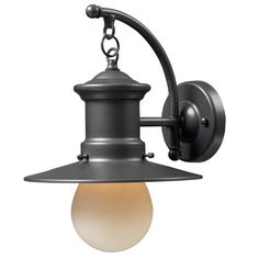 Elk Lighting Maritime 1 Light Outdoor Wall Sconce In Graphite – Exterior Lights – Residential Lighting Outdoor Barn Lighting, Outdoor Wall Lantern, Elk Lighting, Outdoor Wall Sconce, Outdoor Walls, Wall Sconce Lighting, Wall Sconces, Lighting Ideas, Lighting Direct