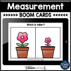 This is a set of 20 digital task cards for Measurement. *Instructions with sound are included!*Students will look at pictures and determine: shorter/tallerholds more/lessshorter/longerheavy/lightshortest/longestshortest/tallest lightest/heaviest holds most/holds leastStudents will also order objects... Teaching Measurement, Teaching Math, Blank Check, Heavy And Light, More And Less, Google Classroom, Task Cards, Distance, Kindergarten