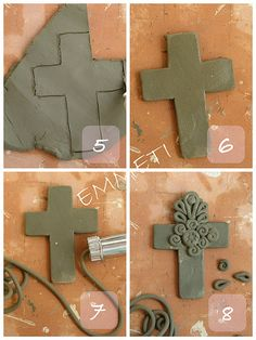 EMMETI Il lavoro impreciso delle mani: ♥ In otto semplici mosse ♥ Like this. Ceramics Projects, Polymer Clay Projects, Polymer Clay Creations, Polymer Clay Kunst, Polymer Clay Jewelry, Clay Cross, Crea Fimo, Keramik Design, Coil Pots