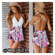 "Spotted while shopping on Poshmark: ""Sexy Girly Romper""! #poshmark #fashion #shopping #style #Dresses & Skirts"