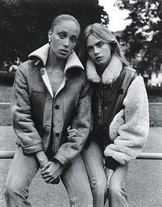 Adwoa Aboah and Cara Delevigne by Alasdair McLellan for W Magazine, October 2014