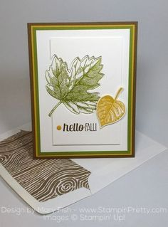Stampin' Up! Vintage Leaves for Fall