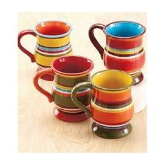 Dinnerware Set or Inidual Pieces Colorful Striped Banded Geometric Southwest Stoneware  sc 1 st  Pinterest & southwestern dinnerware | Navajo Crafted Dinnerware Set - Ceramics ...