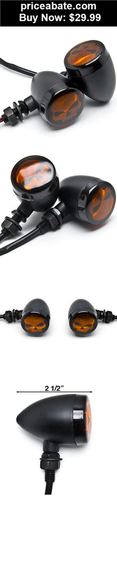 Motors-Parts-And-Accessories: Skull Motorcycle Turn Signals For Harley Davidson XL Sportster 1200 Custom - BUY IT NOW ONLY $29.99